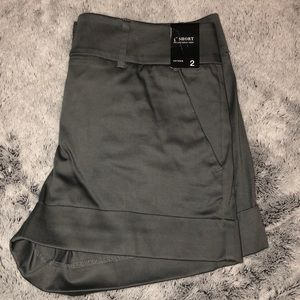 "Dark gray sateen 4"" shorts"